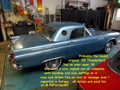 1955 Ford thunderbird blue