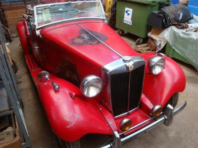 1953 MG TD red
