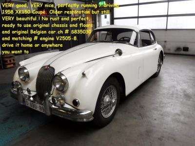 1958 Jaguar XK 150 Coupe white