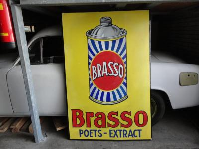 Collectables Brasso emaille sign