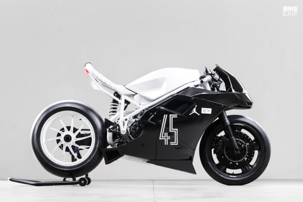 Custom Ducati inspired by the Air Jordan XI Concord